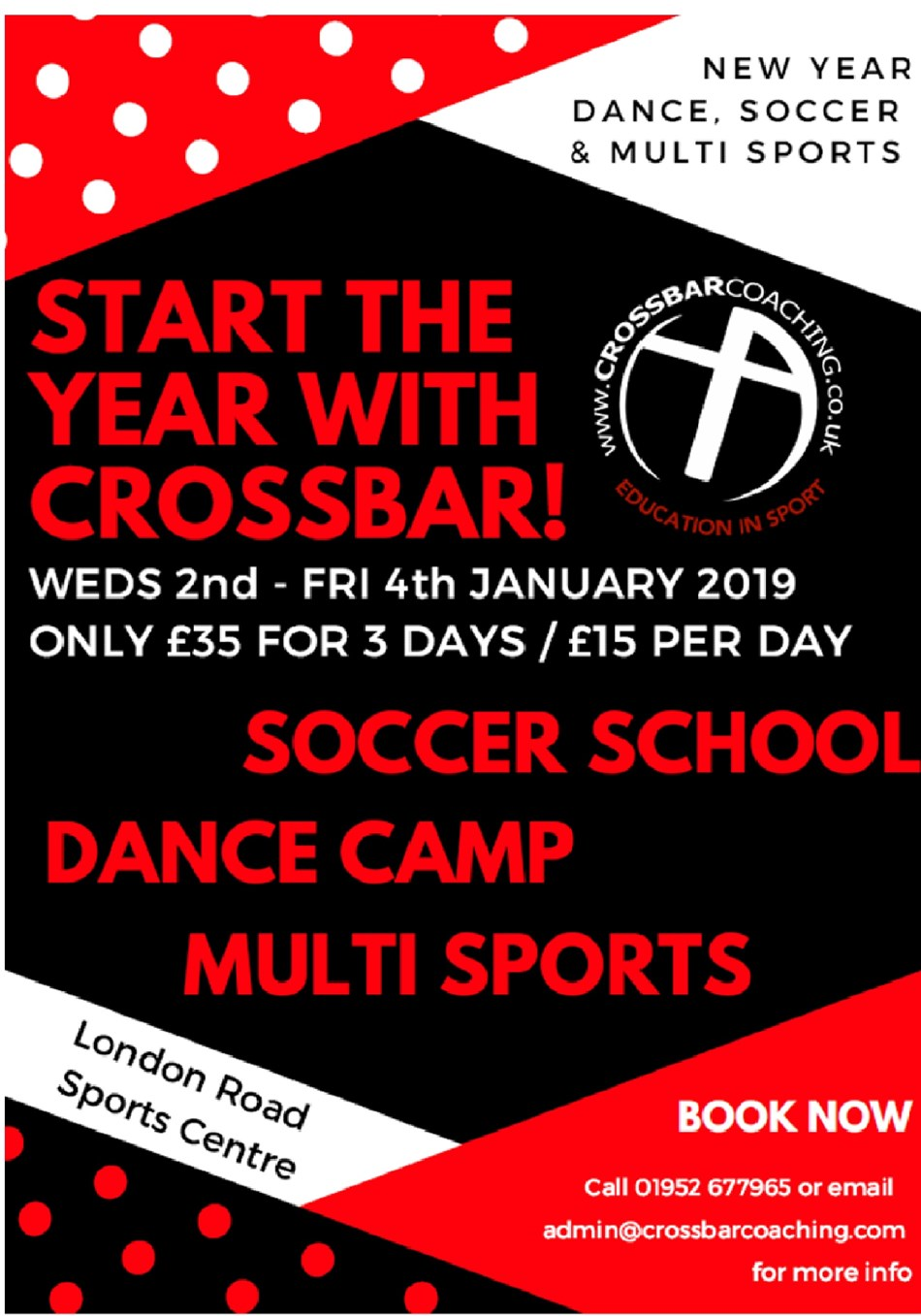 New Year Holiday Club with Crossbar Coaching